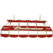 Trademark Budweiser Billiard Lamp, Stained Glass