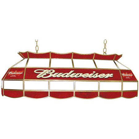 Stained Glass Billiard Light Shade - Trademark Budweiser Billiard Lamp, Stained Glass