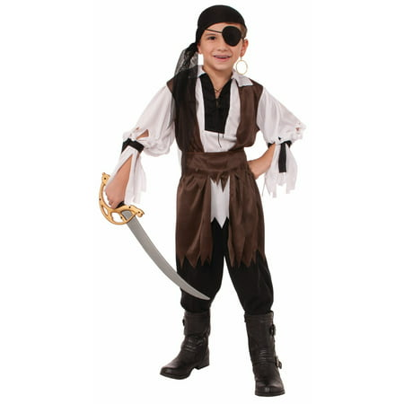 Boys Caribbean Pirate Costume - Pirate Makeup For Men