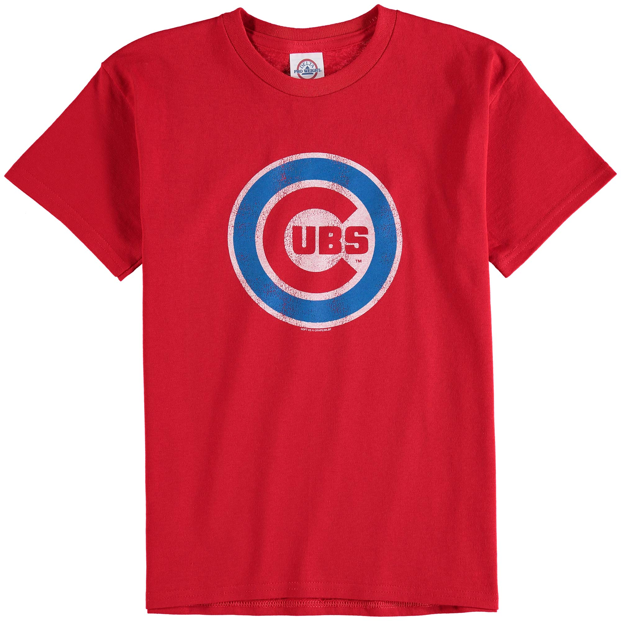 Chicago Cubs Youth Distressed Logo T-Shirt - Red