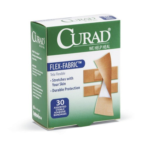 CURAD Flex-Fabric Bandages Brown Yes