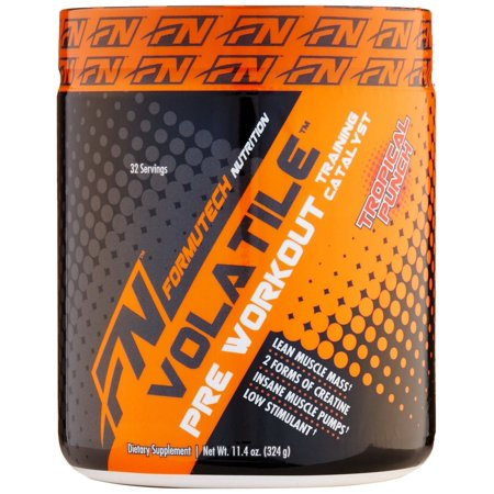 Formutech Nutrition Volatile Pre Workout Powder, 2 Forms of Creatine for Huge Muscle Pumps and Lean Muscle