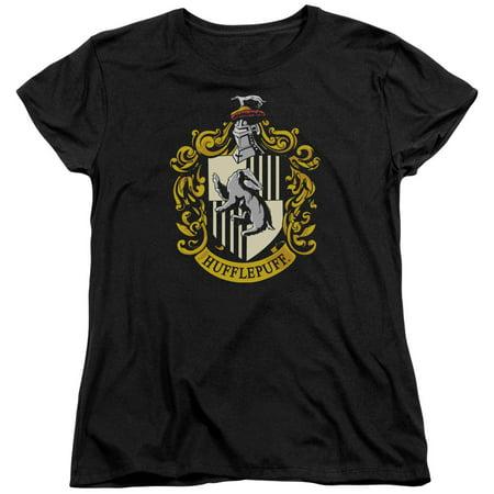 Harry Potter Hufflepuff Crest Womens Short Sleeve Shirt