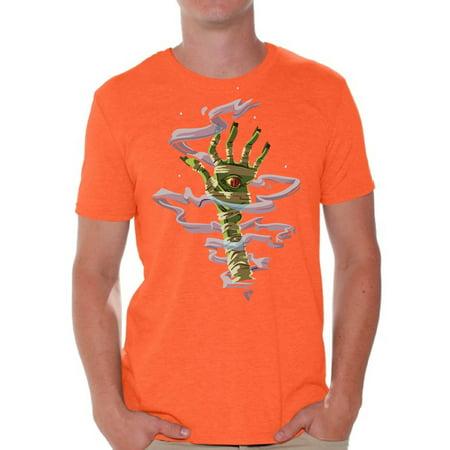 Awkward Styles Halloween T-Shirt Mummy Hand Shirts for Men ()