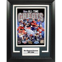 "NFL New England Patriots Greats 11"" x 14"" Deluxe Frame"
