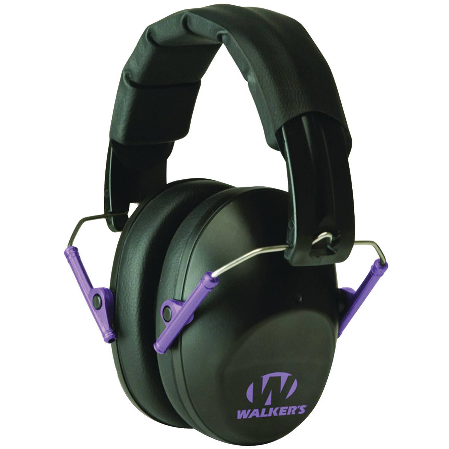 Walker's Game Ear PRO Low-Profile Folding Muff, Black/Purple