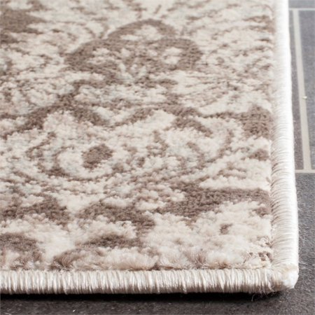 """Safavieh Vintage 4' X 5'7"""" Power Loomed Rug in Brown and Creme - image 2 de 6"""