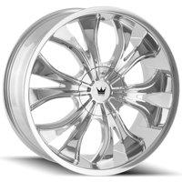 "Mazzi 342 Hustler 20x8.5 5x108/5x4.5"" +35mm Chrome Wheel Rim 20"" Inch"