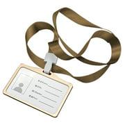 Horizontal Transverse Aluminum Alloy ID Name Card Case Business Work Card Badge Holder with Lanyard