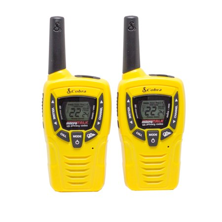 Cobra 23 Mile 22 Channel Sports Walkie Talkie VOX Radios w/ NOAA Receiver CX335