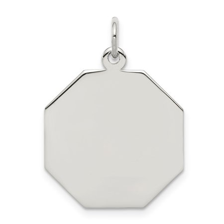 Roy Rose Jewelry Sterling Silver Engraveable Octagon Disc Charm ()