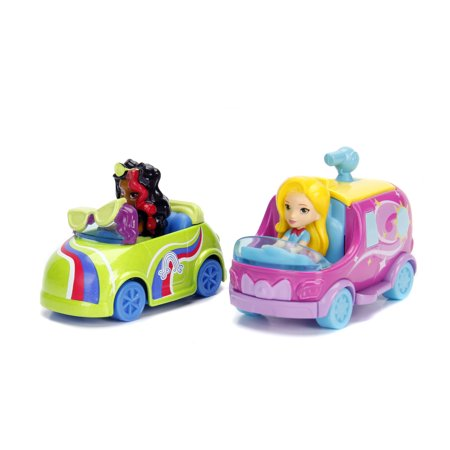 Glam Cap (Sunny Day Sunny Glam Van and Rox Coloring Car Die Cast Vehicle and Figure Twin Pack by Jada Toys )