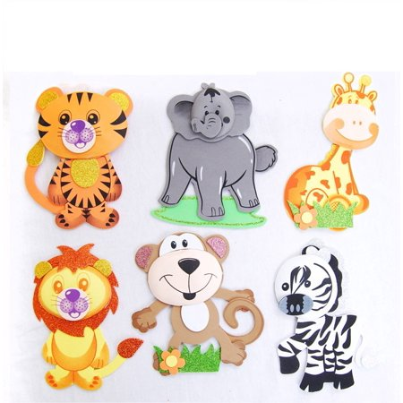 12 PCS Baby Shower Safari Jungle Decoration Foam Party Supplies Girl Boy Favors - Baby Safari Decorations