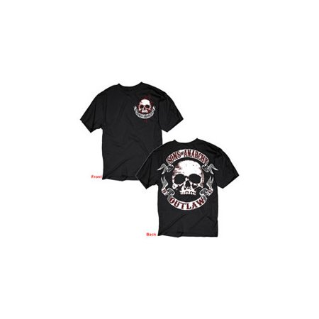 Sons Of Anarchy 28615Xl Sons Of Anarchy Skull   Scroll T Shirt  X Large