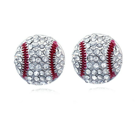cocojewelry Baseball Sports Ball Post Stud Earrings Jewelry (Baseball)