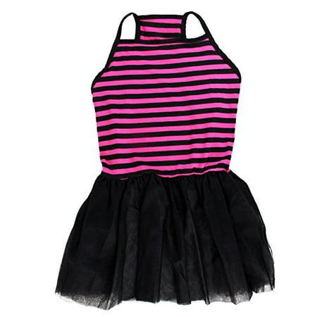 Pink & Black Stripe Tutu Large Dog Dress by - Dresses For Large Dogs