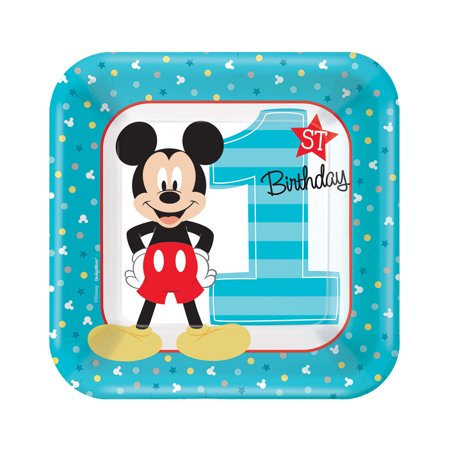 Mickey Mouse First Birthday Party Supplies 48 Pack Dessert Plates