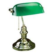 Lite Source Banker Desk Lamp - Polished Brass