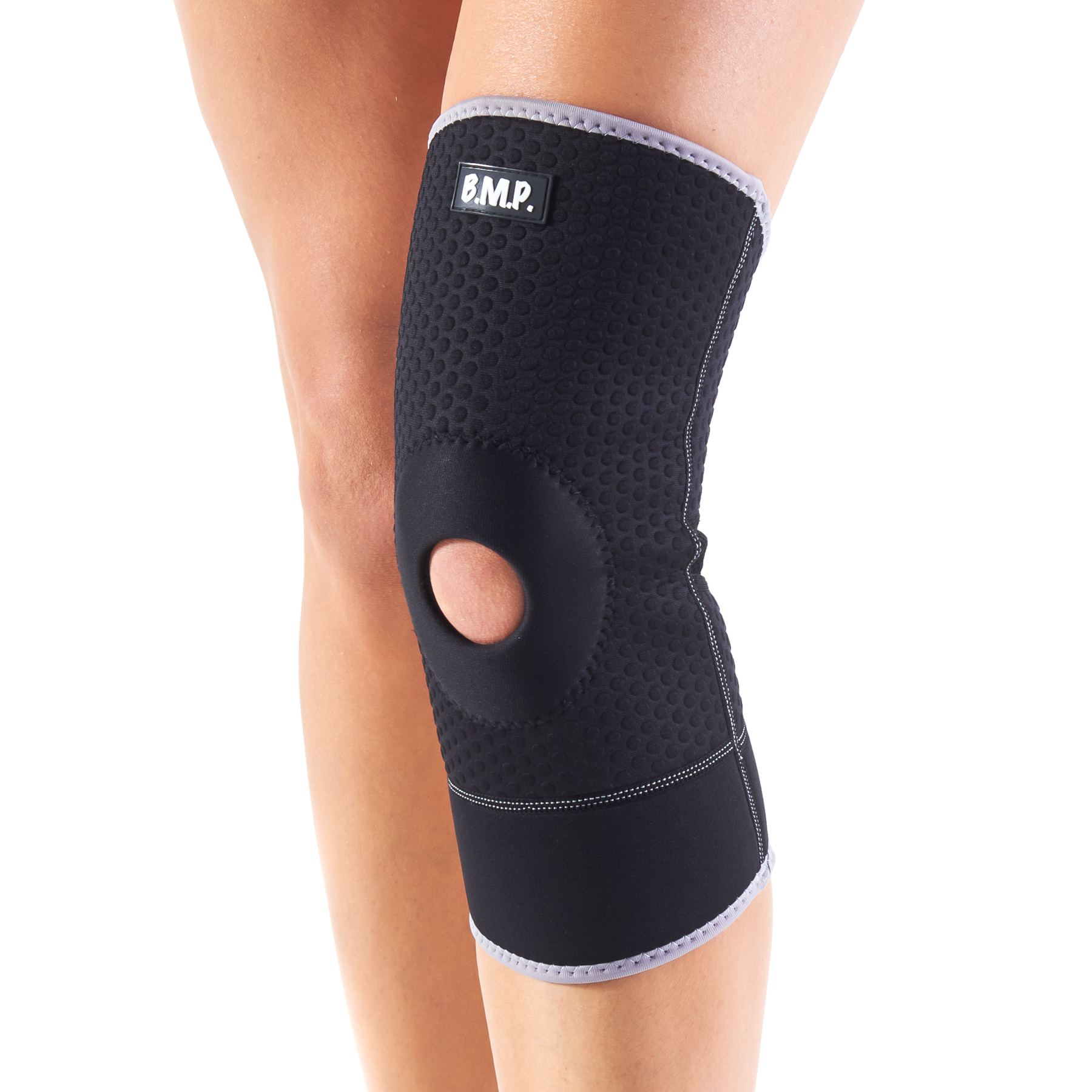 Black Mountain Products Neoprene Knee Brace / Knee Compression Sleeve - Blue, Medium