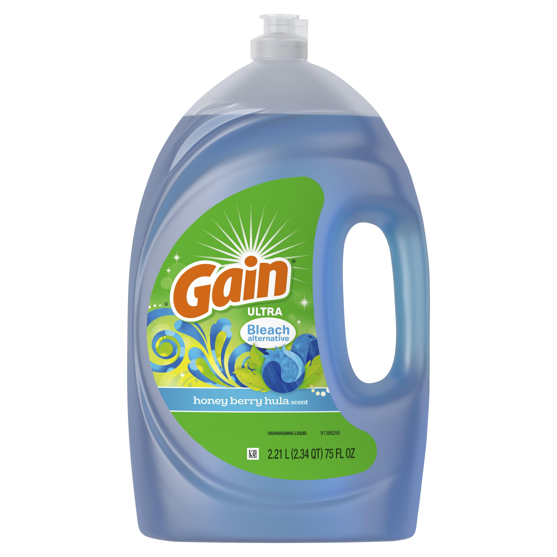 Gain Ultra Dishwashing Liquid Dish Soap, Honey Berry Hula, 75 fl oz