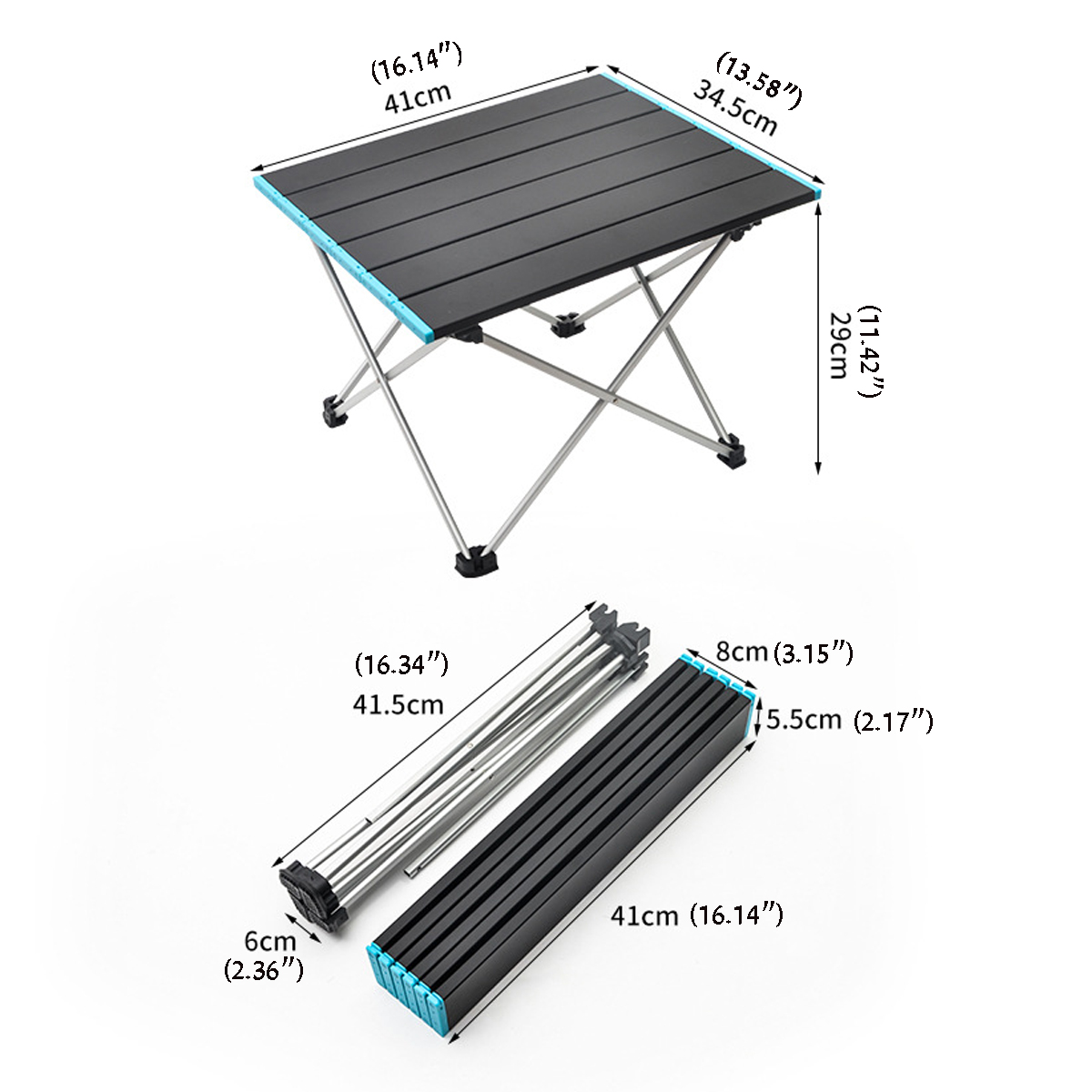 Camp Furniture for Camping Portable Camping Table With Aluminum Table Top Beach Cutting Useful For Dining Cooking With Burner Easy To Clean for Outd Hard-Topped Folding Table In A Bag For Picnic