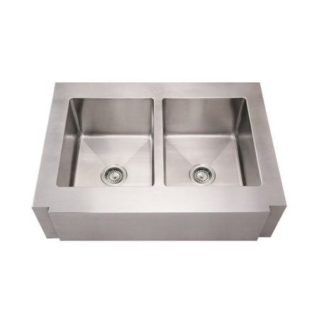 ... -BSS 36-in Noahs Collection Commercial Double Bowl Apron Front Sink