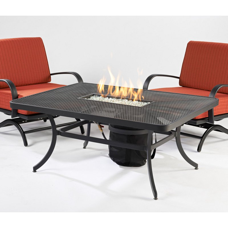 Outdoor GreatRoom Nightfire Rectangular Fire Pit Table