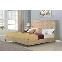 """HomeLife® 48"""" Light Brown Studded Platform Bed Frame"""