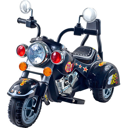 Lil' Rider 3 Wheel Trike Road Warrior Motorcycle - Black Chopper 2 - 5 Years Toddler