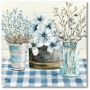 "Courtside Market Blue Farmhouse 16""x16"" Gallery-Wrapped Canvas Wall Art"