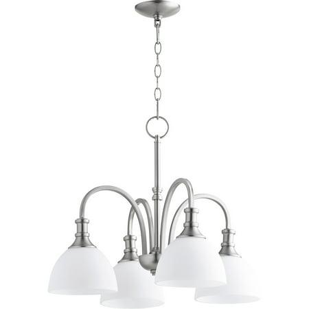 Chandeliers 4 Light With Satin Nickel Finish Medium Base Bulbs 23 inch 400 Watts