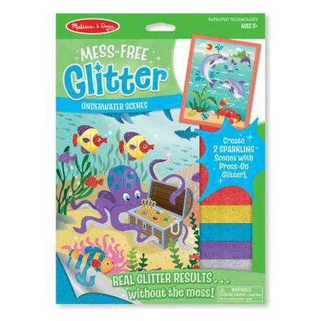 Scene Glitter - Melissa & Doug Mess-Free Glitter Activity Kit - Underwater Scenes