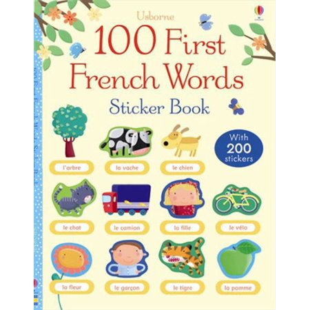 100 First French Words Sticker Book - Another Word For Halloween Party