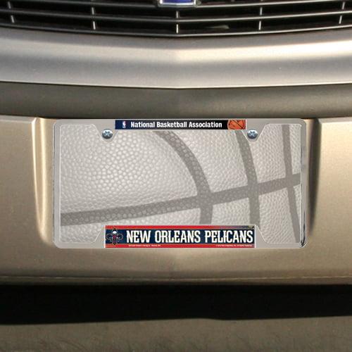 Basketball License Plate Frame Gifts Sports Teams Metal Silver Screws