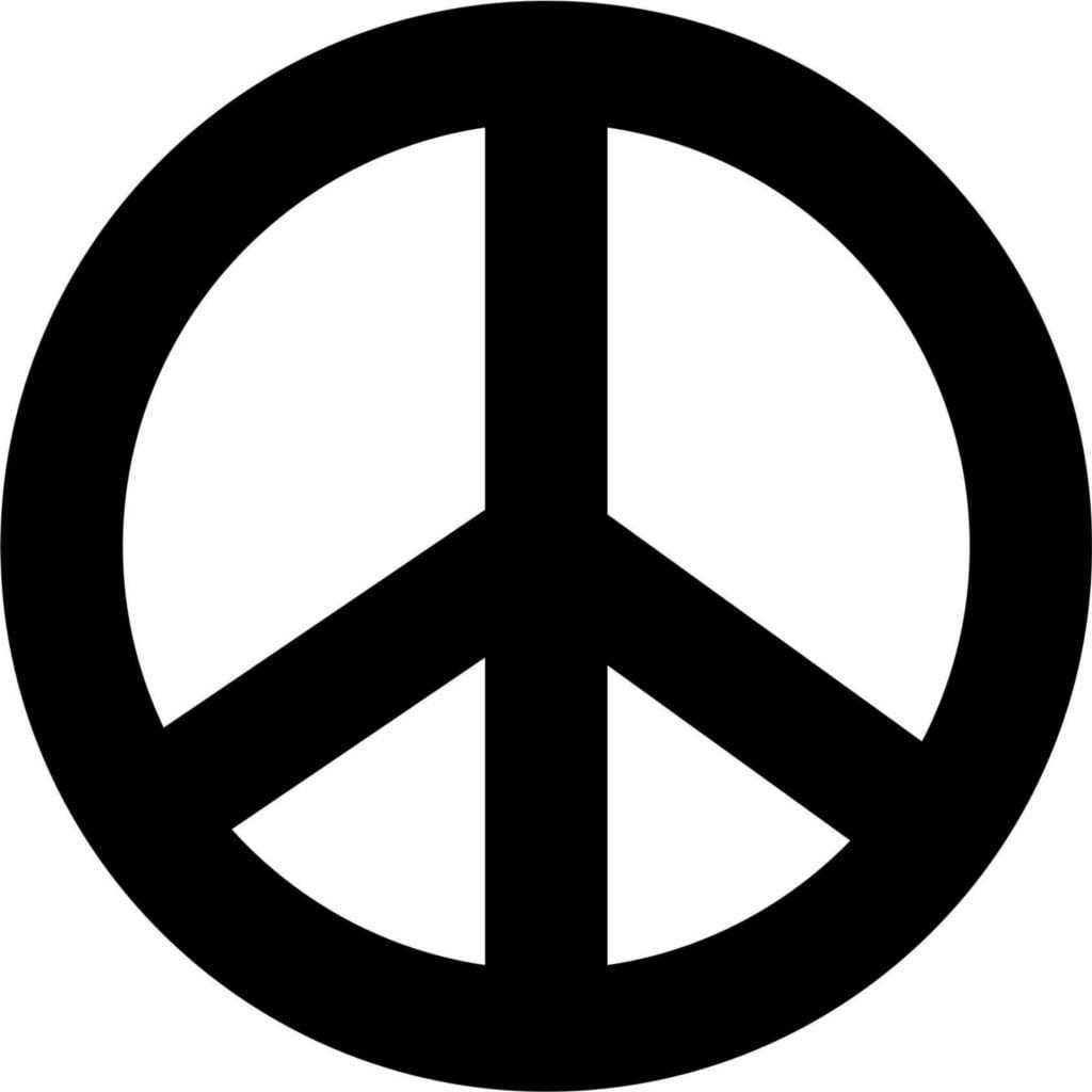 Custom Designs Peace Sign Symbol Removable Car Bumper 7 X 7 Inches