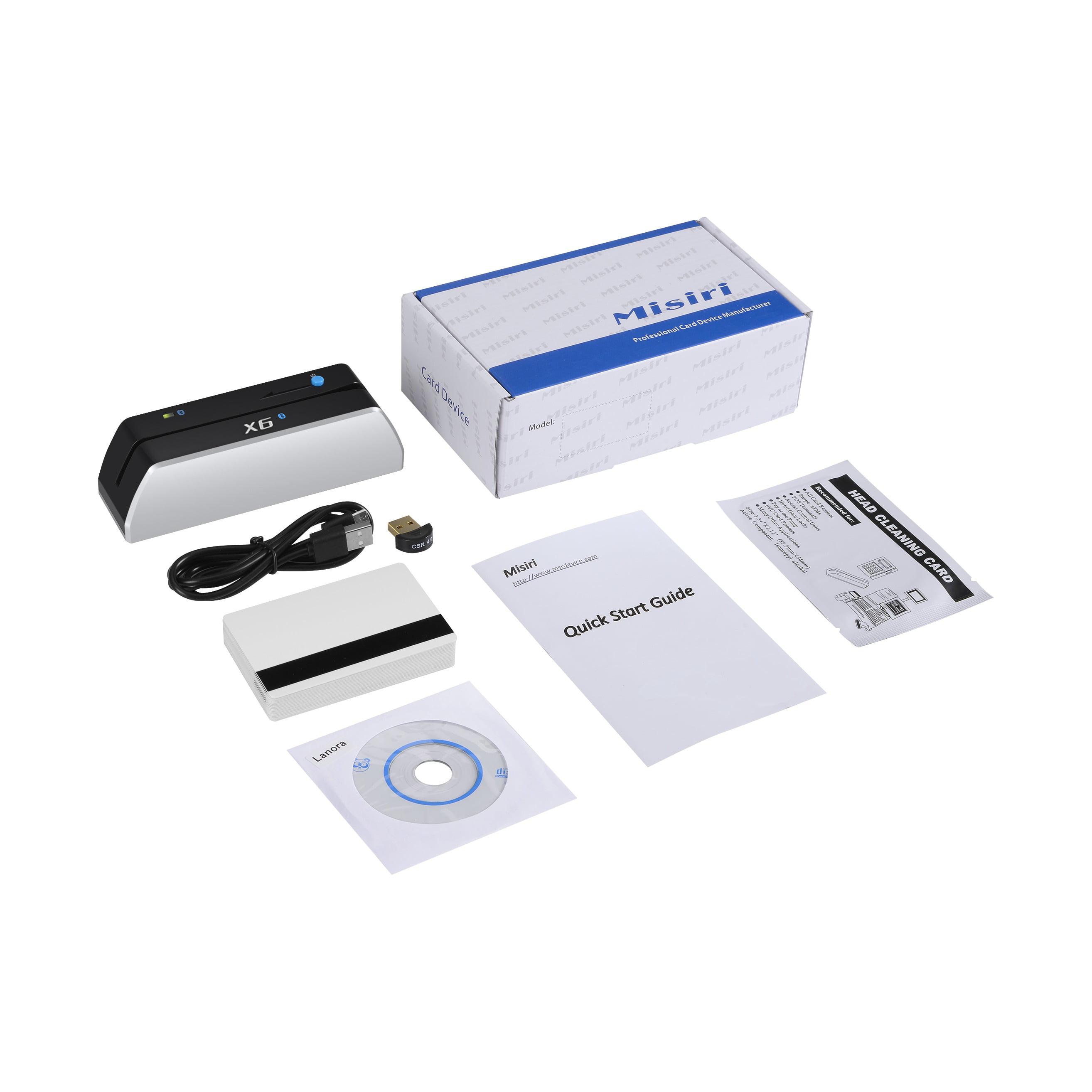 Misiri Bluetooth X6(BT) Magnetic Stripe Card Reader Write...