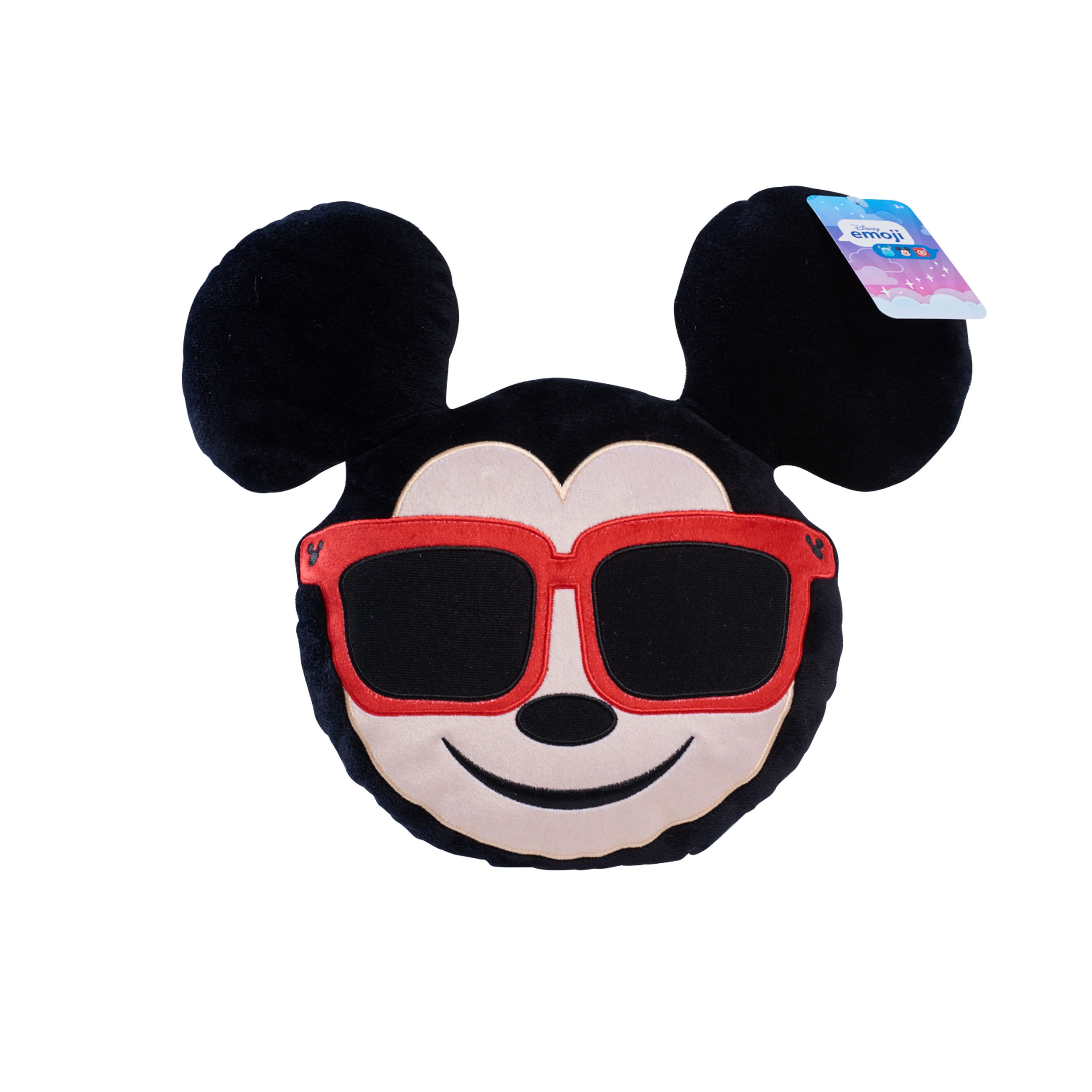 "Disney Emoji Mickey Mouse with Sunglasses 13"" Plush by Just Play"