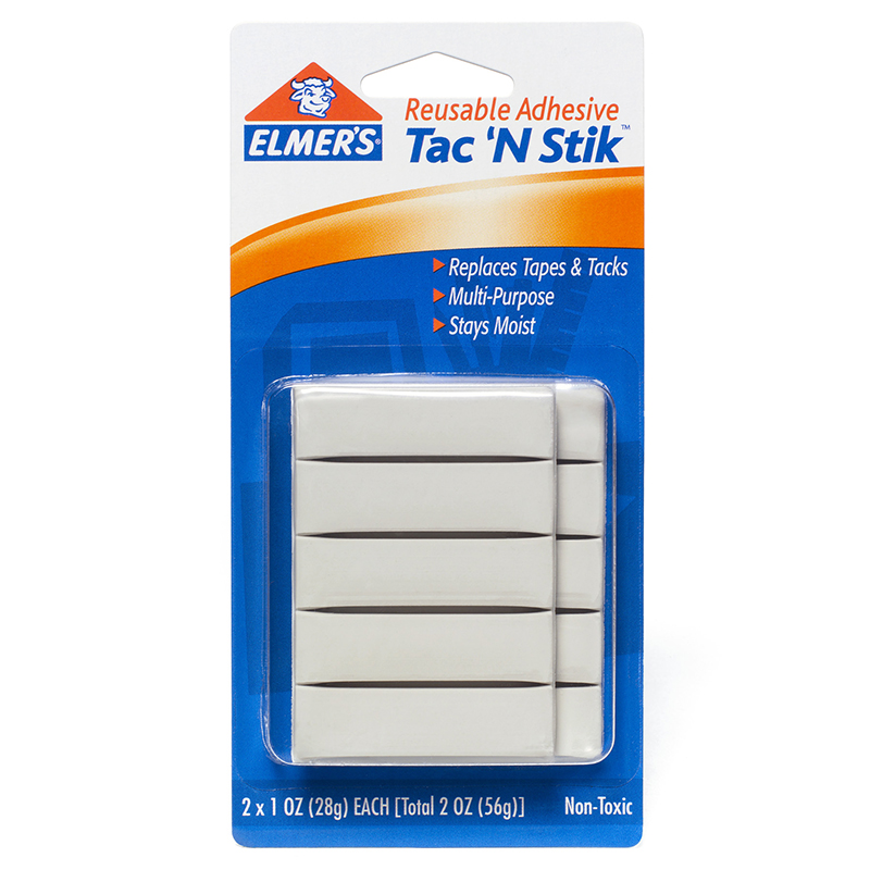 Elmer's Products Inc 2 Count Reusable Adhesive Tac 'N Stik  98620