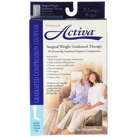 - Surgical Weight 30-40 mmHg Knee High Closed Toe Stockings, Beige, X-Large, Activa Surgical Weight By Activa From USA