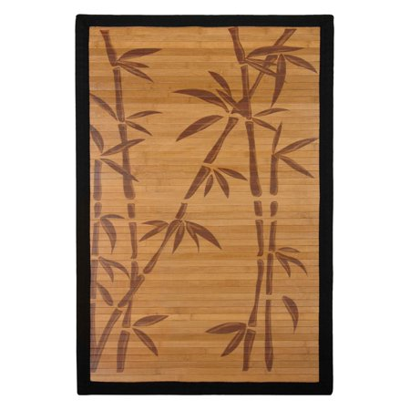 Oriental Furniture Bamboo Rug, Bamboo Tree, 2'x3',