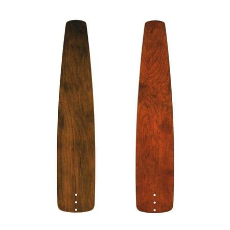 Kichler 371027 Custom Distressed Walnut / Cherry Solid Wood Blades - 5 Blade Set