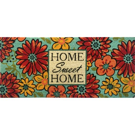 Home Dynamix Fiesta Collection Vinyl Backed Coir Entrance Mat, Home Sweet Home
