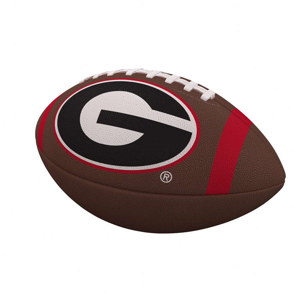 Georgia Team Stripe Full-Size Composite Football