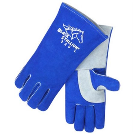 Black Stallion 320 CushionCore Split Cowhide Stick Welding Gloves, Medium