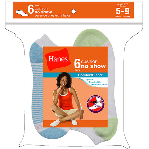 Ladies Socks No Show 6 Pack