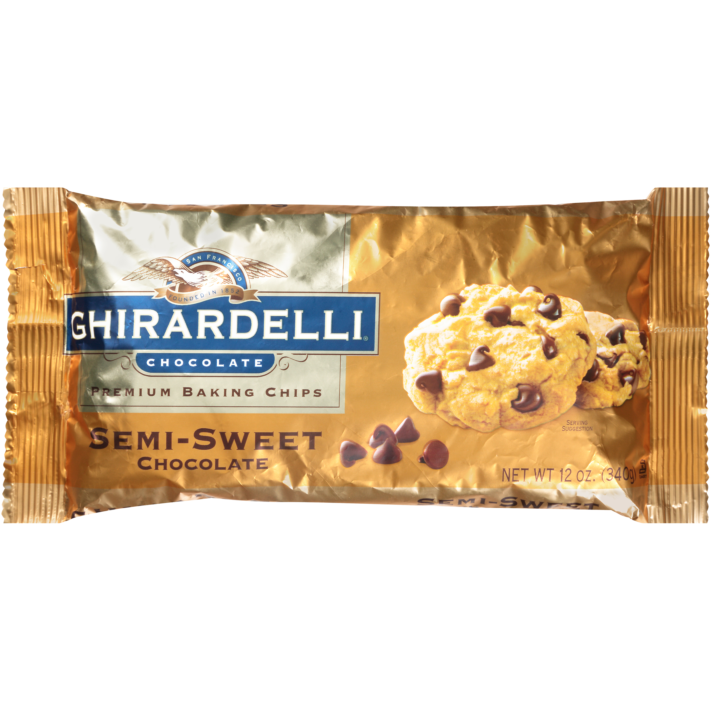 Ghirardelli Chocolate Semi-Sweet Chocolate Baking Chips, 12 oz
