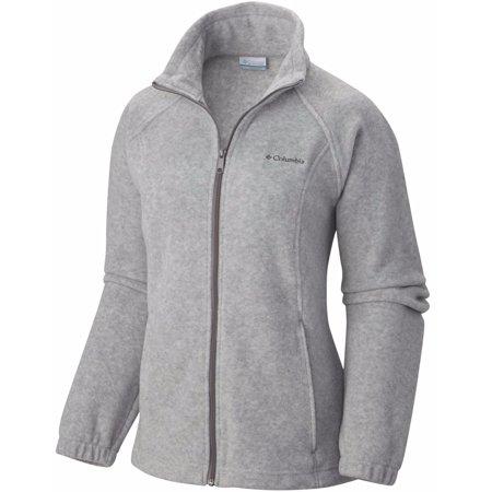 Columbia Women's Benton Springs Full Zip Fleece Jacket - Light Gray ()