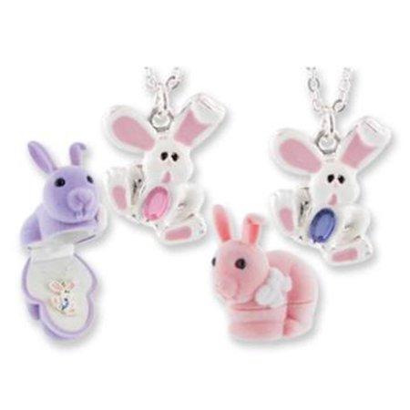 DDI 433745 Bunny Animal Necklace in Bunny Box Case Of 24