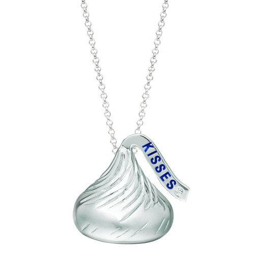 Hershey's Kiss Pendant with solitary diamond