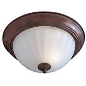Minka Lavery 829-84 2 Light Incandescent Flush Mount with Frosted Melon - Frosted Melon Glass Light Fixture